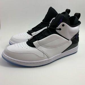 Jordan Fadeaway Concord White Size 13